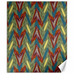 Shapes Pattern Canvas 8  X 10  by LalyLauraFLM