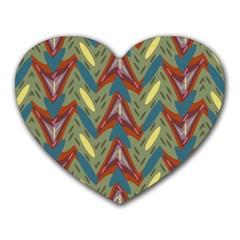 Shapes pattern Heart Mousepad by LalyLauraFLM