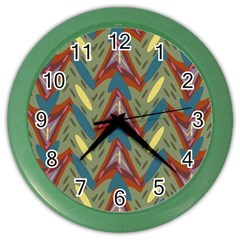 Shapes Pattern Color Wall Clock by LalyLauraFLM
