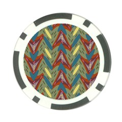 Shapes Pattern Poker Chip Card Guard (10 Pack) by LalyLauraFLM