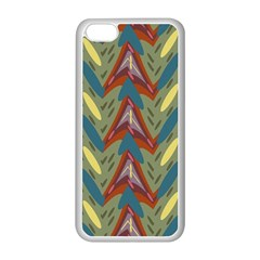 Shapes Pattern Apple Iphone 5c Seamless Case (white) by LalyLauraFLM