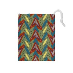Shapes Pattern Drawstring Pouch (medium) by LalyLauraFLM