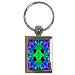 Alien Snowflake Key Chain (rectangle) by icarusismartdesigns