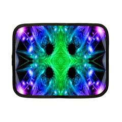 Alien Snowflake Netbook Sleeve (small) by icarusismartdesigns