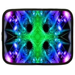 Alien Snowflake Netbook Sleeve (large) by icarusismartdesigns