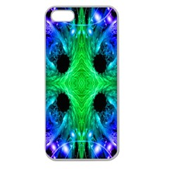 Alien Snowflake Apple Seamless Iphone 5 Case (clear) by icarusismartdesigns