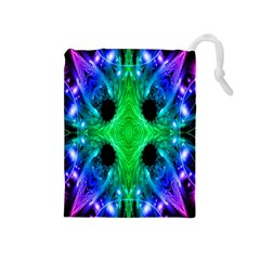 Alien Snowflake Drawstring Pouch (medium) by icarusismartdesigns