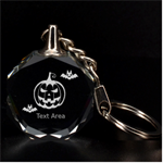 halloween - 3D Engraving Circle Key Chain