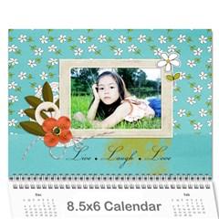 Wall Calendar 8 5 X 6: Live, Laugh, Love By Jennyl   Wall Calendar 8 5  X 6    N004k9b24f4c   Www Artscow Com Cover