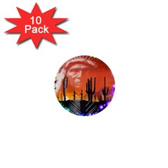 Ghost Dance 1  Mini Button (10 Pack) by icarusismartdesigns
