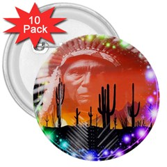 Ghost Dance 3  Button (10 Pack) by icarusismartdesigns