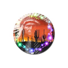 Ghost Dance Magnet 3  (round) by icarusismartdesigns