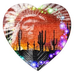 Ghost Dance Jigsaw Puzzle (heart) by icarusismartdesigns