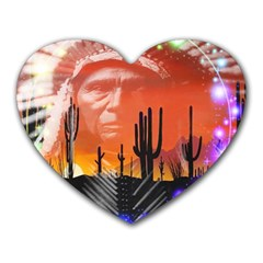 Ghost Dance Mouse Pad (heart) by icarusismartdesigns