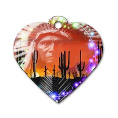 Ghost Dance Dog Tag Heart (two Sided) by icarusismartdesigns