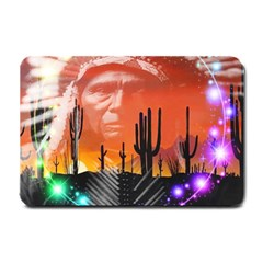 Ghost Dance Small Door Mat by icarusismartdesigns