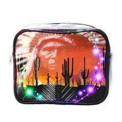 Ghost Dance Mini Travel Toiletry Bag (one Side) by icarusismartdesigns