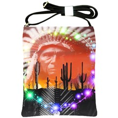 Ghost Dance Shoulder Sling Bag by icarusismartdesigns