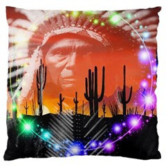 Ghost Dance Large Cushion Case (two Sided)  by icarusismartdesigns