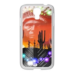 Ghost Dance Samsung Galaxy S4 I9500/ I9505 Case (white) by icarusismartdesigns