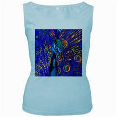 Peacock Women s Tank Top (baby Blue) by icarusismartdesigns