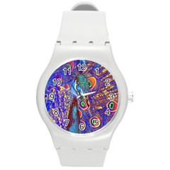 Peacock Plastic Sport Watch (medium) by icarusismartdesigns