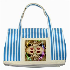 Magic Spell Blue Striped Tote Bag by icarusismartdesigns