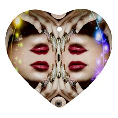 Magic Spell Heart Ornament (two Sides) by icarusismartdesigns