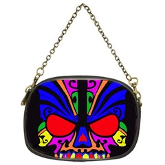 Skull In Colour Chain Purse (one Side) by icarusismartdesigns