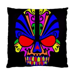 Skull In Colour Cushion Case (single Sided)  by icarusismartdesigns