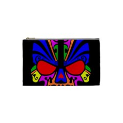 Skull In Colour Cosmetic Bag (small) by icarusismartdesigns