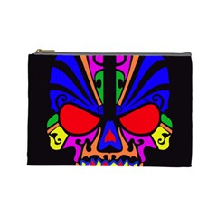 Skull In Colour Cosmetic Bag (large) by icarusismartdesigns