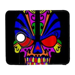 Skull In Colour Samsung Galaxy S  Iii Flip 360 Case by icarusismartdesigns