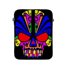 Skull In Colour Apple Ipad Protective Sleeve by icarusismartdesigns