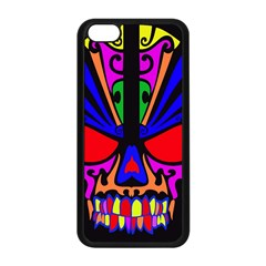 Skull In Colour Apple Iphone 5c Seamless Case (black) by icarusismartdesigns
