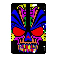 Skull In Colour Kindle Fire Hdx 8 9  Hardshell Case by icarusismartdesigns