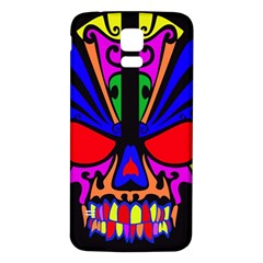 Skull In Colour Samsung Galaxy S5 Back Case (white) by icarusismartdesigns