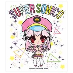 Super Sonico Drawstring L By Ichigo Kuriimu Ryusei   Drawstring Pouch (large)   Y11qr71x03uy   Www Artscow Com Back