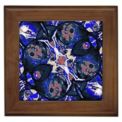 Decorative Retro Floral Print Framed Ceramic Tile by dflcprints