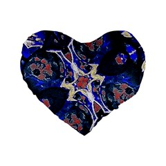 Decorative Retro Floral Print 16  Premium Heart Shape Cushion  by dflcprints