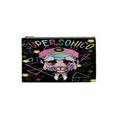 Super Sonico Small Bag Black By Ichigo Kuriimu Ryusei   Cosmetic Bag (small)   Zgmguz6pzynk   Www Artscow Com Front