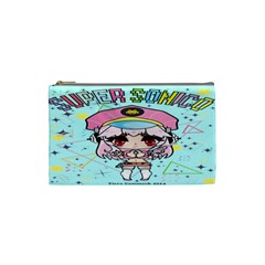 Super Sonico Small Bag Sax By Ichigo Kuriimu Ryusei   Cosmetic Bag (small)   Llpm9jy6naxf   Www Artscow Com Front