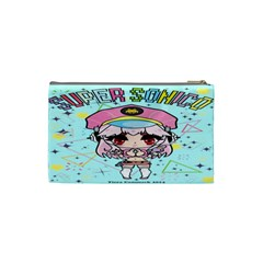 Super Sonico Small Bag Sax By Ichigo Kuriimu Ryusei   Cosmetic Bag (small)   Llpm9jy6naxf   Www Artscow Com Back