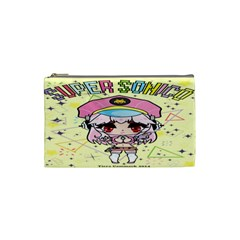 Super Sonico Small Bag Yellow By Ichigo Kuriimu Ryusei   Cosmetic Bag (small)   Uv2b7bw79j5v   Www Artscow Com Front