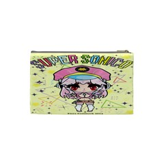 Super Sonico Small Bag Yellow By Ichigo Kuriimu Ryusei   Cosmetic Bag (small)   Uv2b7bw79j5v   Www Artscow Com Back