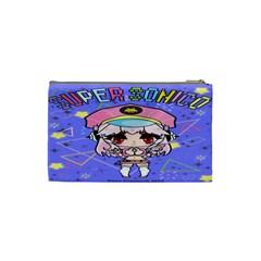Super Sonico Small Bag Blue Purple By Oniryusei   Cosmetic Bag (small)   Xxis0n36errz   Www Artscow Com Back