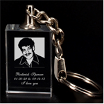 rod key chain - 3D Engraving Key Chain