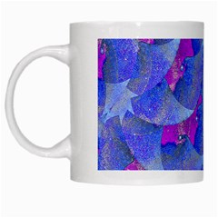 Abstract Deco Digital Art Pattern White Coffee Mug by dflcprints