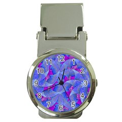 Abstract Deco Digital Art Pattern Money Clip With Watch by dflcprints