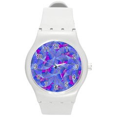 Abstract Deco Digital Art Pattern Plastic Sport Watch (medium) by dflcprints